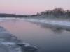 Karge talveõhtu jõel